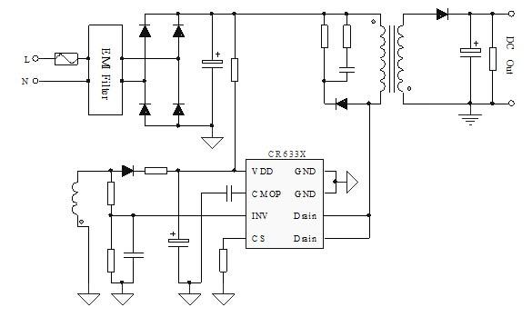 电路 电路图 电子 户型 户型图 平面图 原理图 585_360